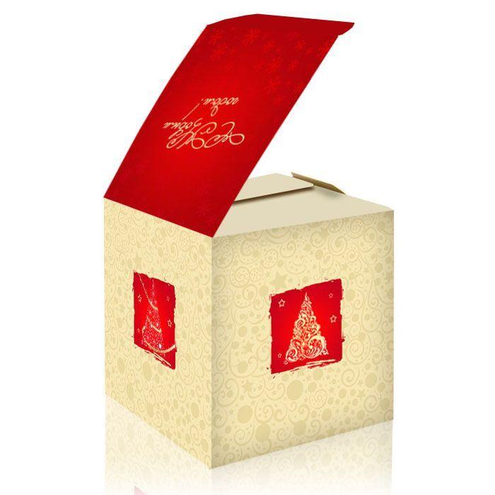 ...купить, коробка для кружки, подарочная коробка с новым годом...